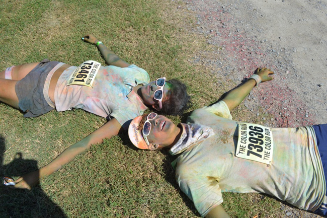 Chelsea and I beat Do a Color Run   Bucket List #8 Athletics