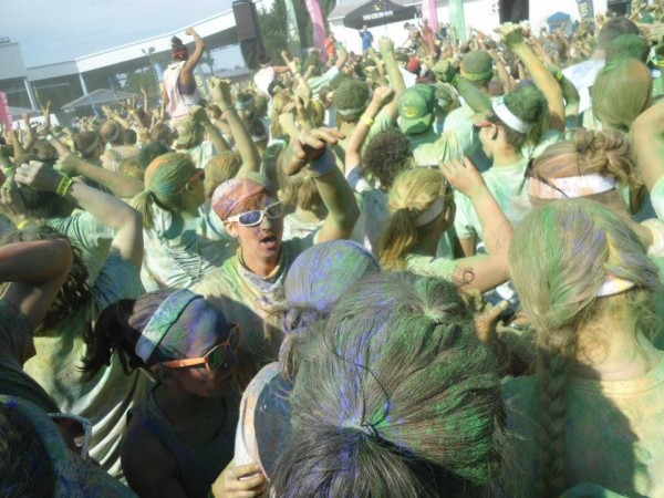 Me in the Dance Party Do a Color Run   Bucket List #8 Athletics
