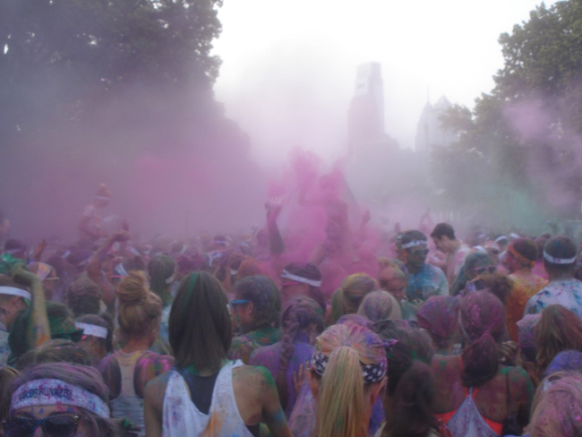 color run paint party