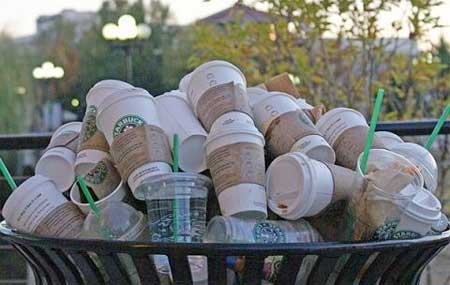Starbucks Trash