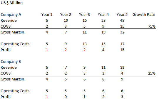 Company 5 Year Growth